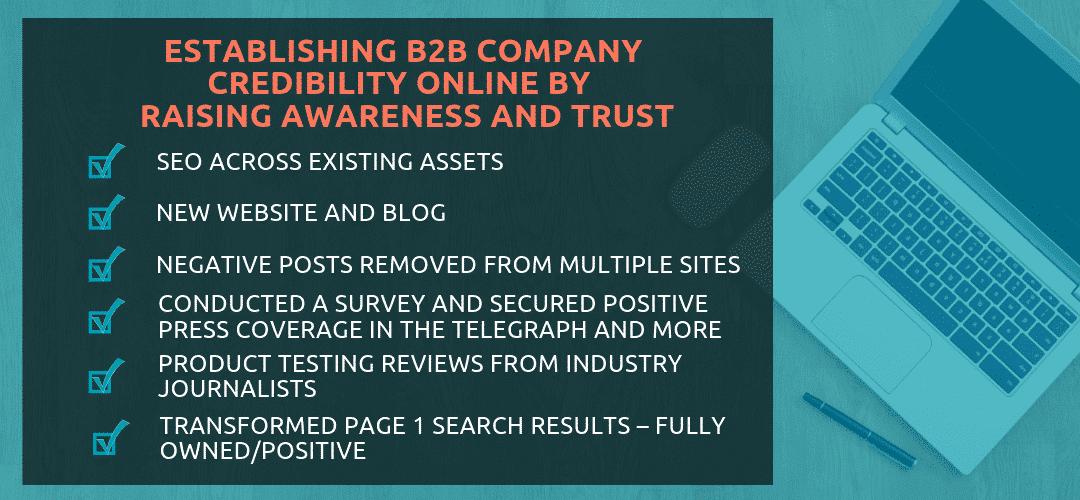 B2B Company Credibility Online