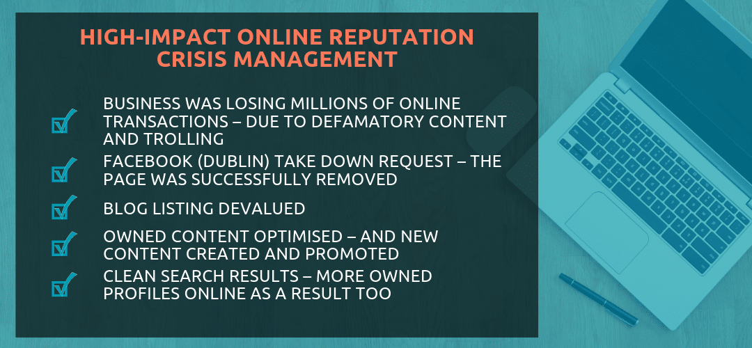 Online Reputation Crisis Management