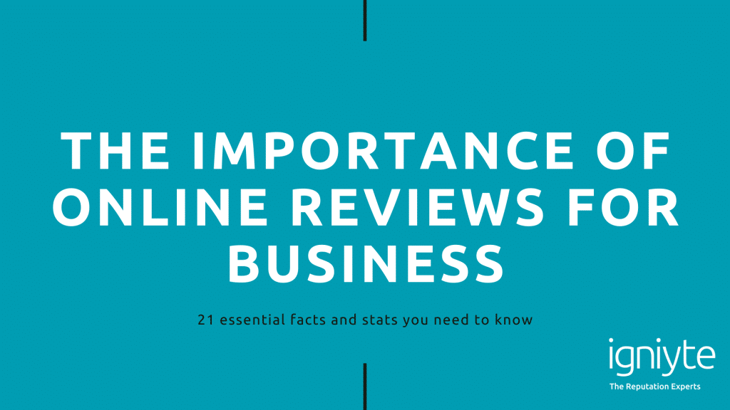 Igniyte - The importance of Reviews for Business - EBook DISABLED